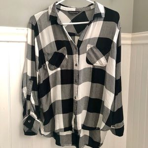 Rock & Republic Checkered Button-Up Shirt